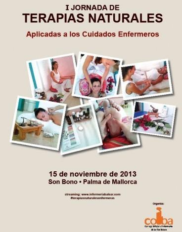 Cartel editado para difundir las Jornadas de Terapias Naturales que organiza el COIBA