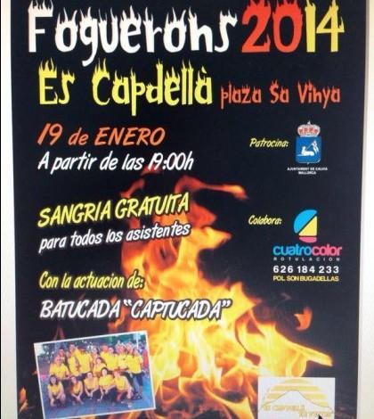Es Capdellà organiza un 'fogueró' con mucho ritmo.