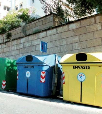 Contenedores de reciclaje instalados en Calvià