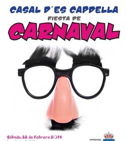 Cartel anunciador de la fiesta de disfraces de Es Capdellà