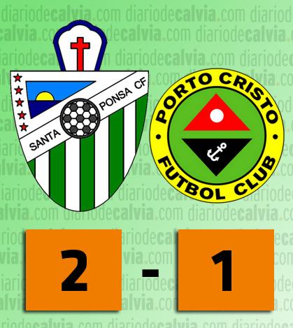 El Santa Ponsa C.F. se impone 2 a 1 al Porto Cristo